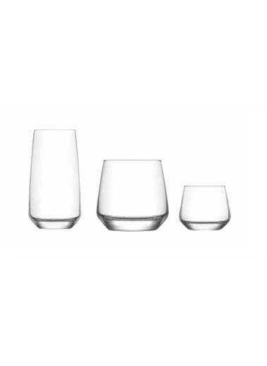 Lav Lal Çeyiz Seti 36 Prç. Su Bardak - Bardağı - Meşrubat Bardağı 12 Kişilik Renkli